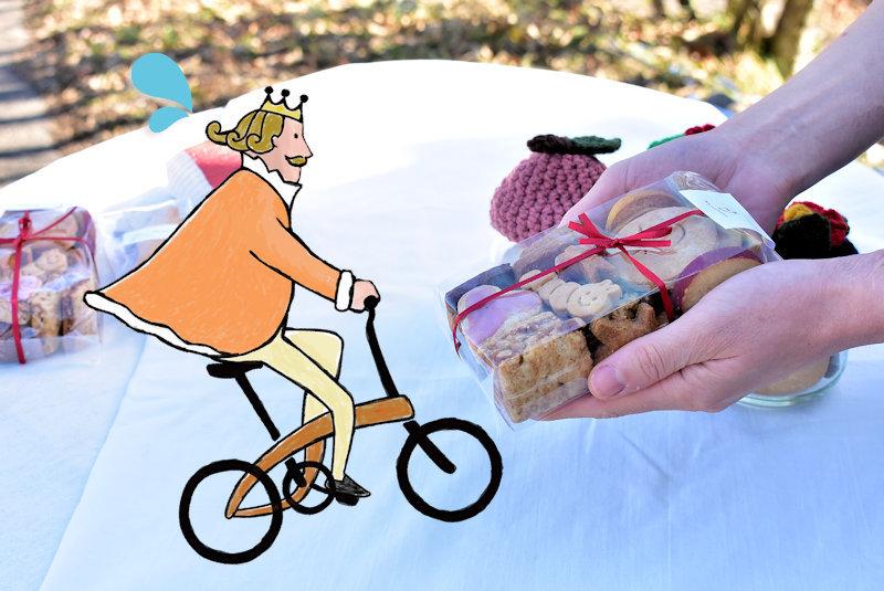 シロイハコお菓子手渡しレタッチ